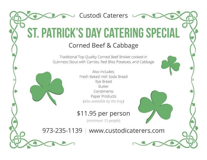 St Patricks Day Specials