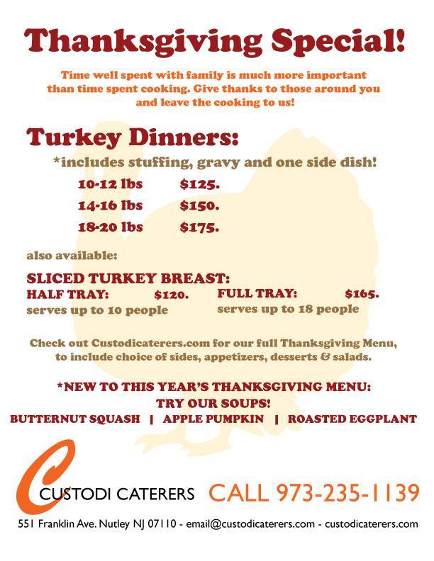 Thanksgiving 2015 Catering